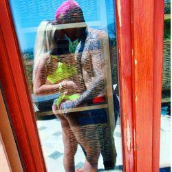 Alex Caniggia y su novia