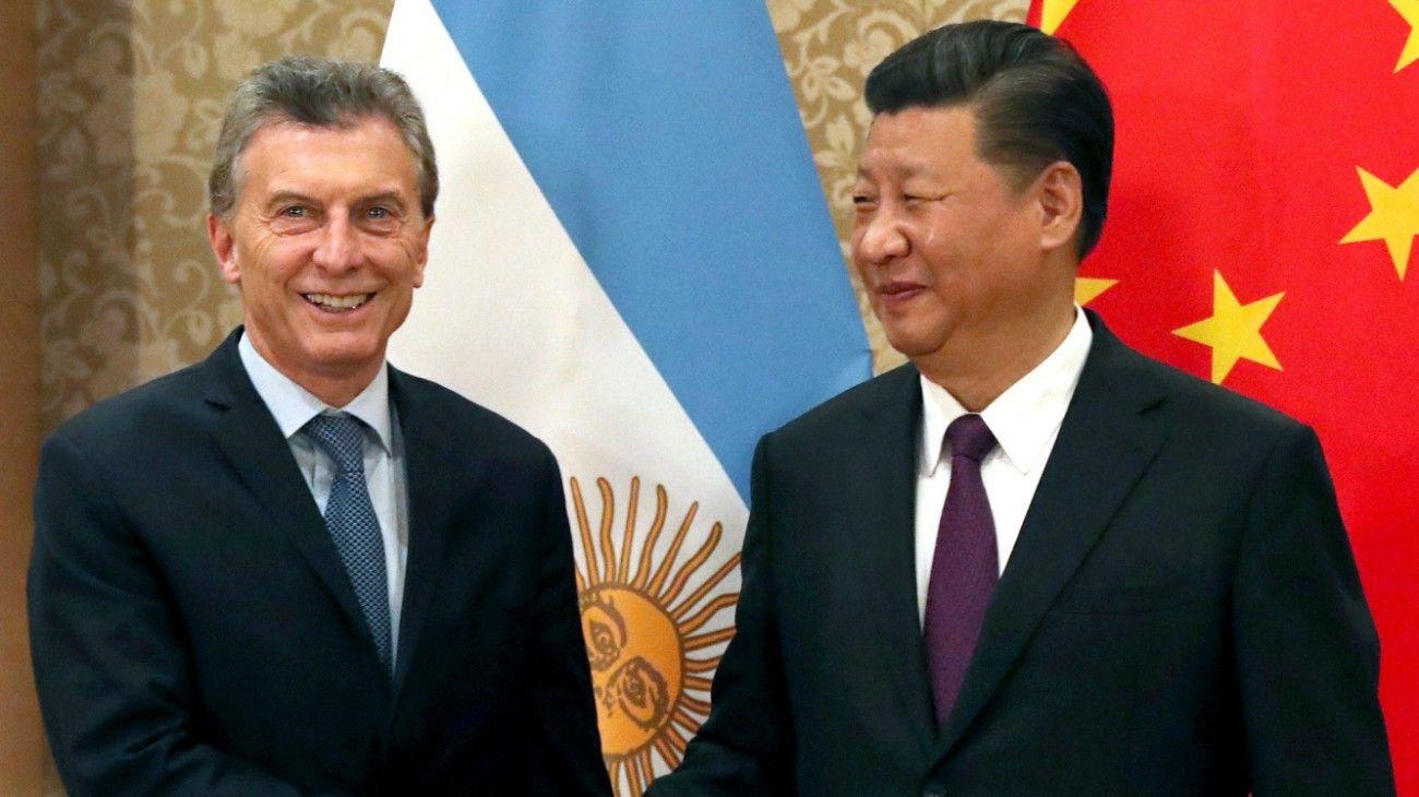 El presidente Mauricio Macri, junto a su par chino, Xi Jinping.