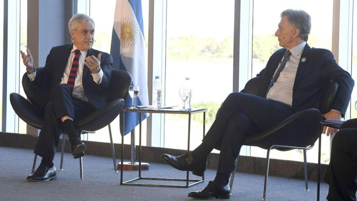 Sebastián Piñera and Mauricio Macri.