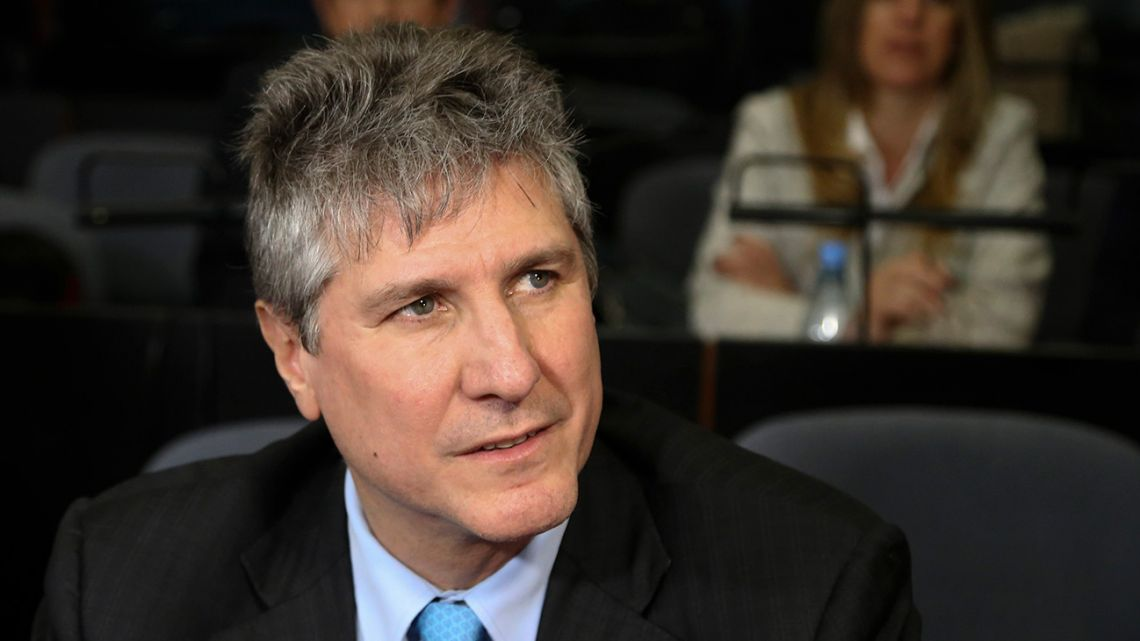 Former vice-president Amado Boudou, pictured in court in 2018.