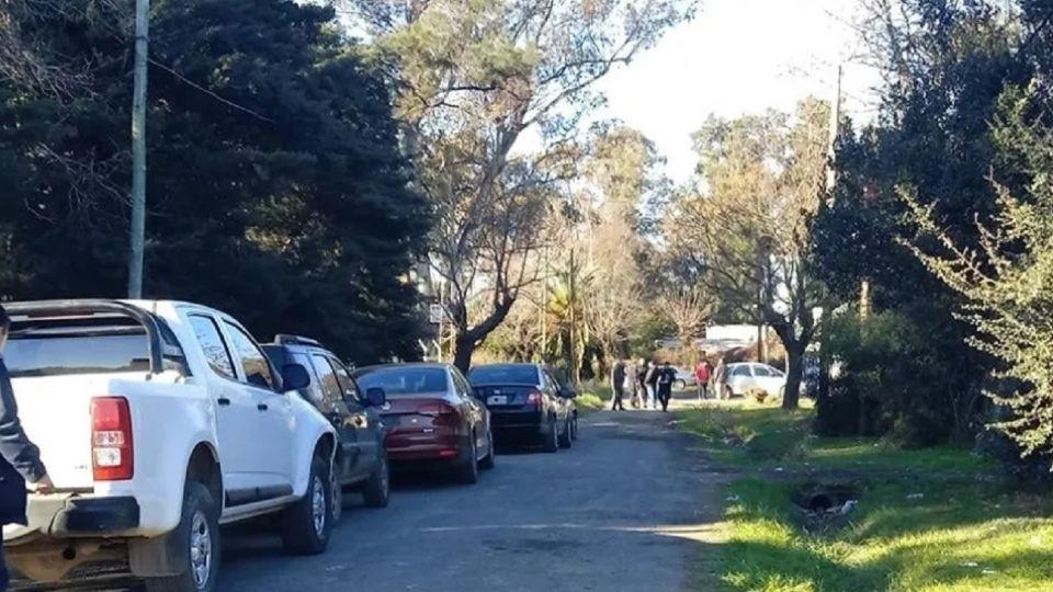 La zona donde fue encontrado el cuerpo, en Moreno.