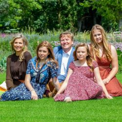 Máxima de Holanda y su familia