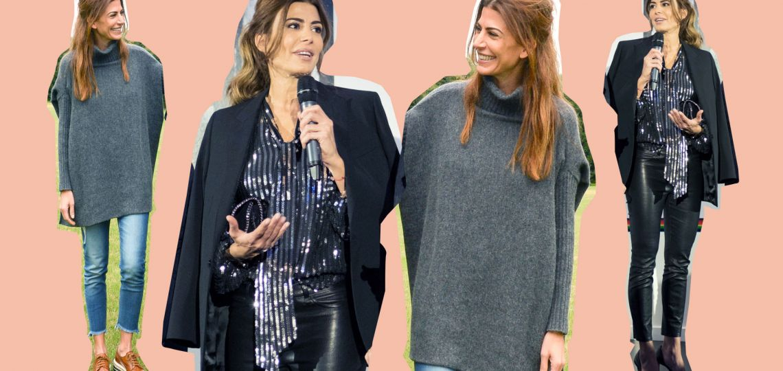 Dos looks de Juliana Awada para lucir de día y noche