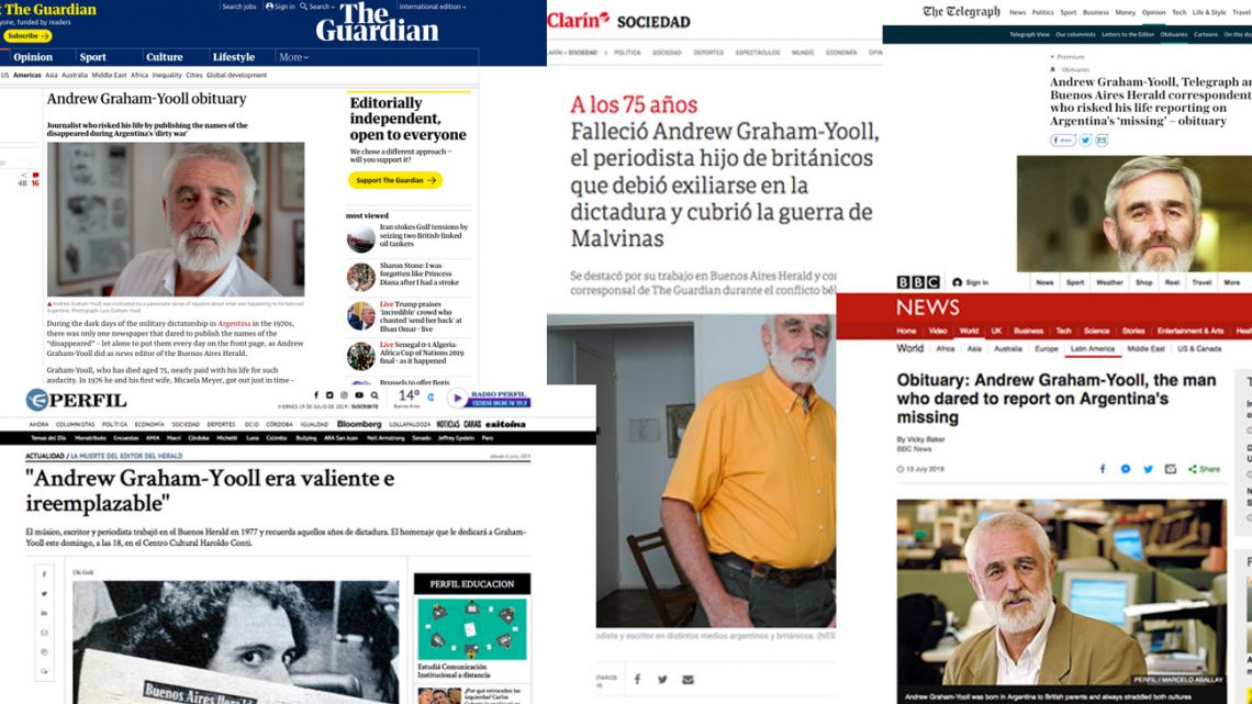 The media mourns the death of the great Graham-Yooll.