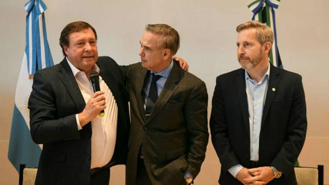 Miguel Angel Pichetto, Alberto Weretilneck and Rogelio Frigerio.