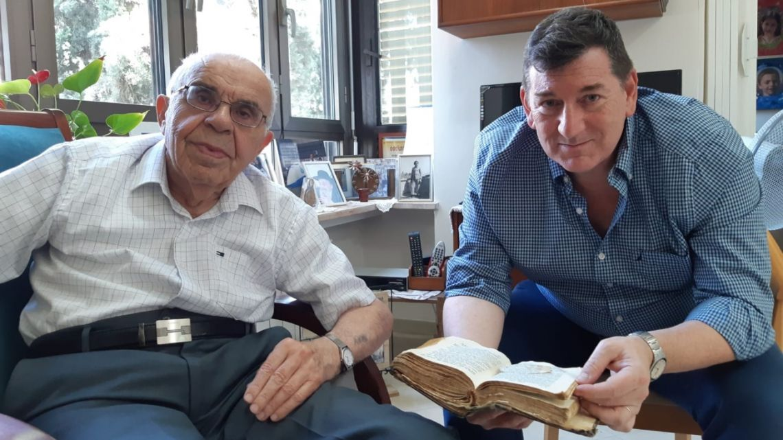 The author with Menachem in Israel.