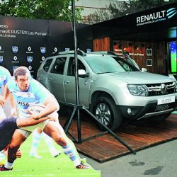 Tras la derrota con los All Blacks, Los Pumas visitaron el stand de Renault