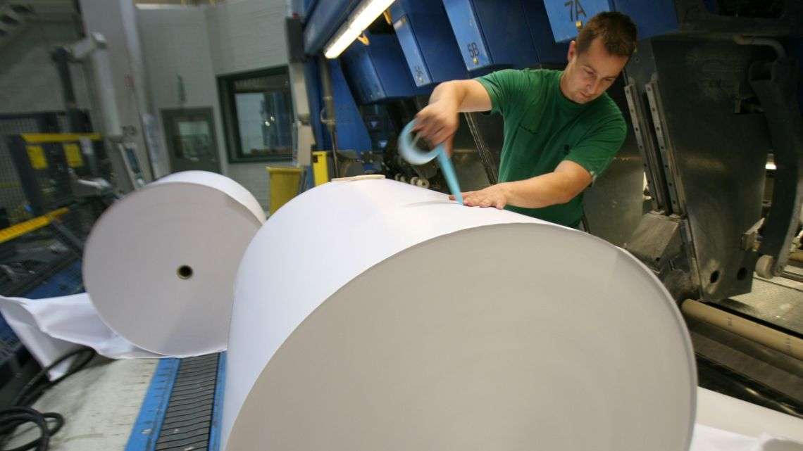 An employee at a UPM plant in Finland.