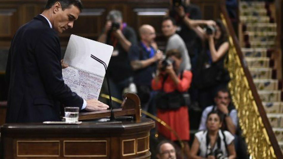 Pedro Sánchez debate investidura