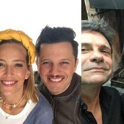 Luisana Lopilato reunió junto a su hermano, Darío con Guillermo Francella y Marcelo Debellis.
