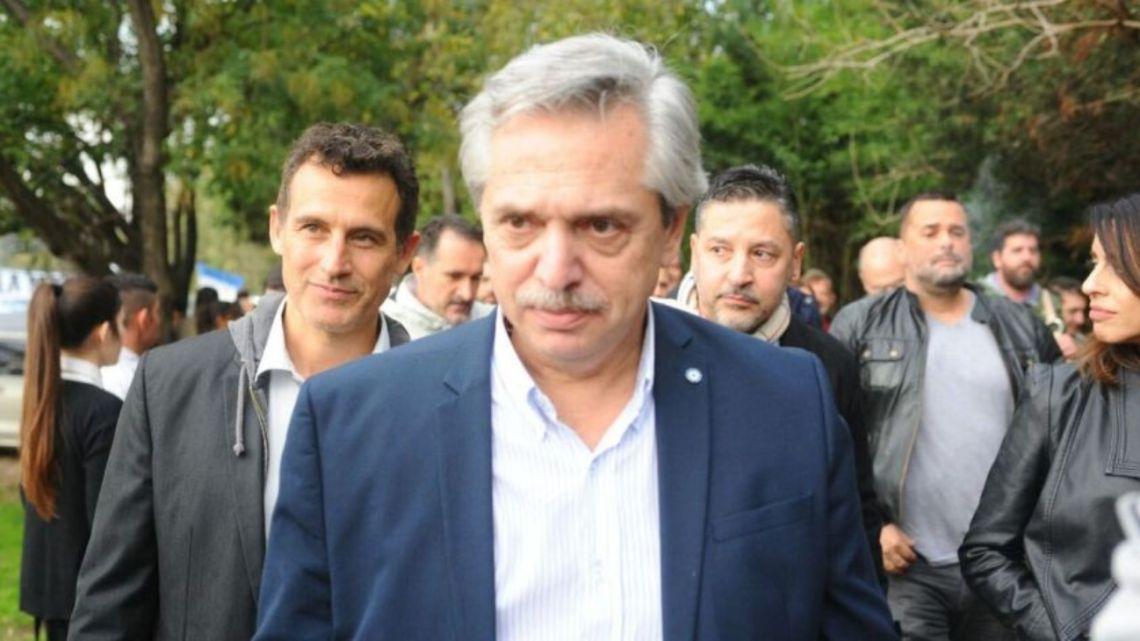 Frente de Todos presidential candidate Alberto Fernández.