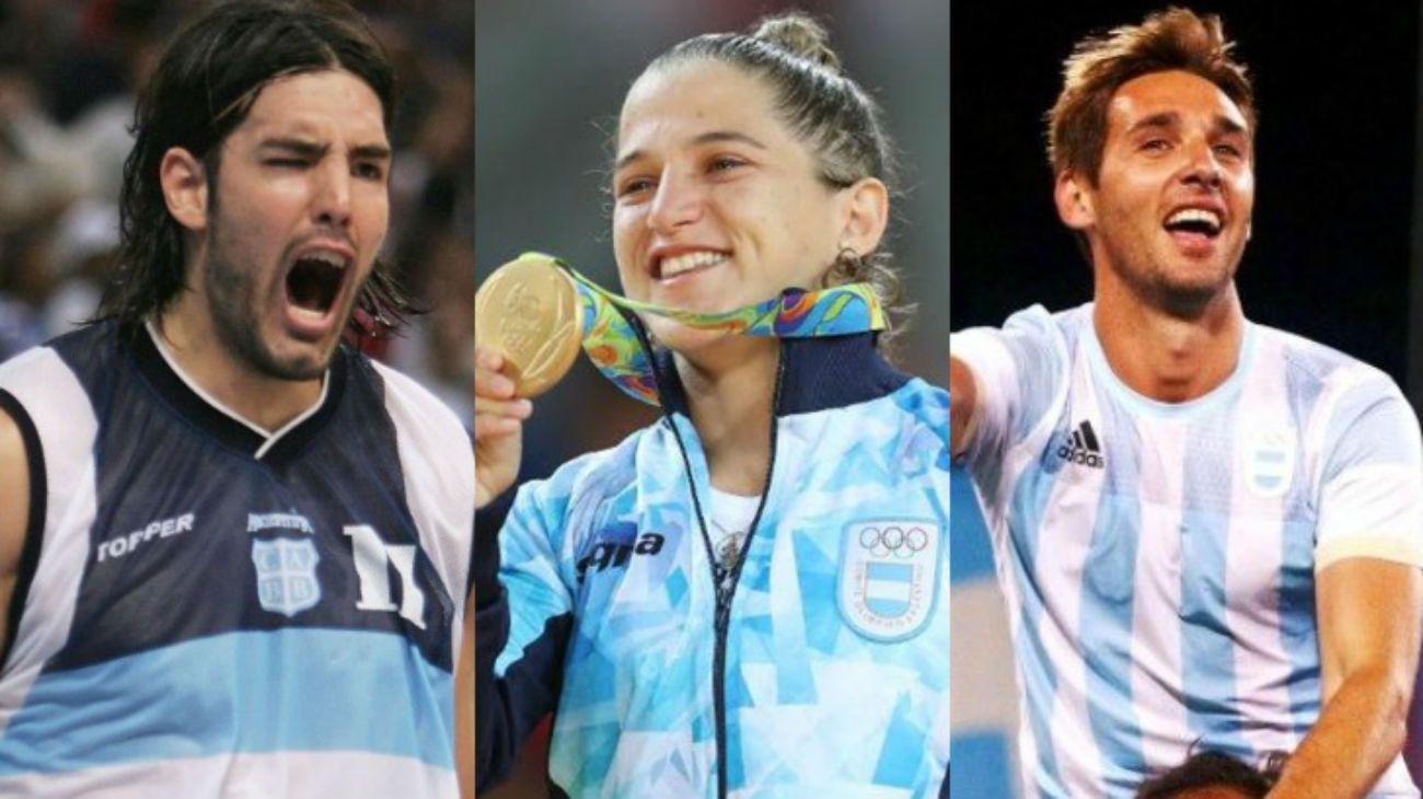Luis Scola, Paula Pareto y Matías Paredes, tres campeones olímpicos que competirán para la Argentina en los Panamericanos de Lima 2019.