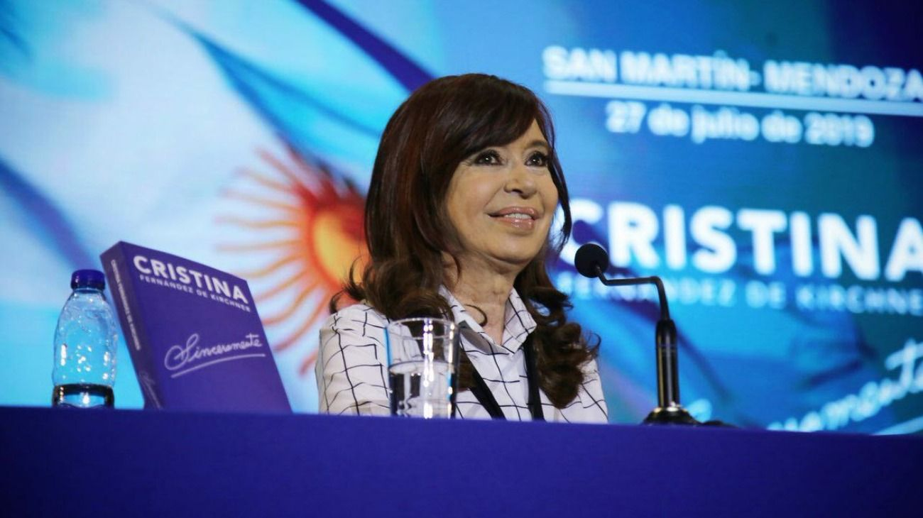Cristina Kirchner presentó su libro Sinceramente en Mendoza.