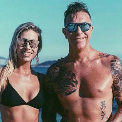Alejandro Fantino y Coni Mosqueira en Brasil