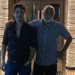 El negro Oscar González Oro y su expareja Mauro Javier Francisco.
