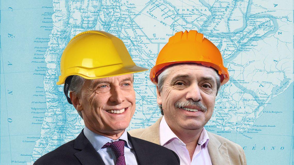 Mauricio Macri and Alberto Fernández.