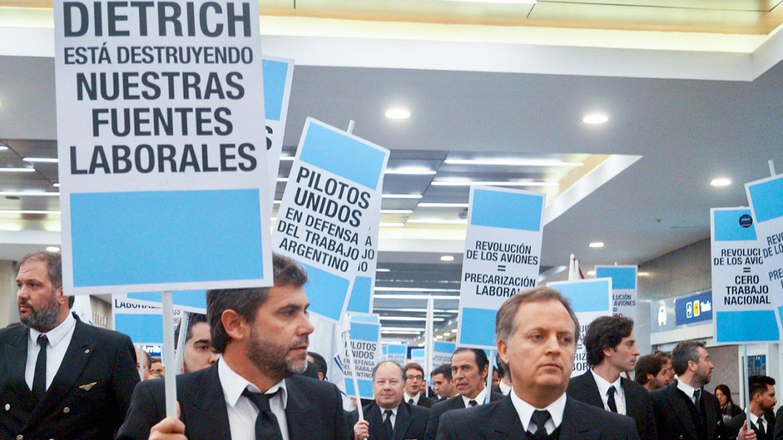 Pilots' protest against Dietrich and over increased competition.