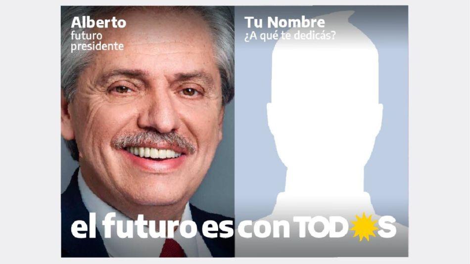 Tu afiche con Alberto. La nueva campaña en redes del Frente de Todos.