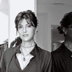 Evangelina Bomparola detrás de la diseñadora