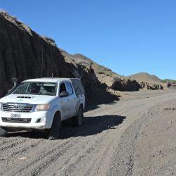 Camino de acceso a Don Carmelo, solo transitable en camionetas 4x4. Son 35 km en los que se ascienden unos 1.000 m de desnivel, hasta los 3.100 de altura.