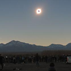Uno de los lugares de la Argentina donde el eclipse se vio mejor fue en San Juan, más precisamente en la localidad de Iglesia, a unas dos horas de Don Carmelo,