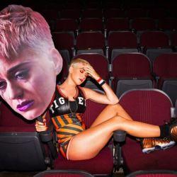 Katy Perry durante una sesión de fotos.