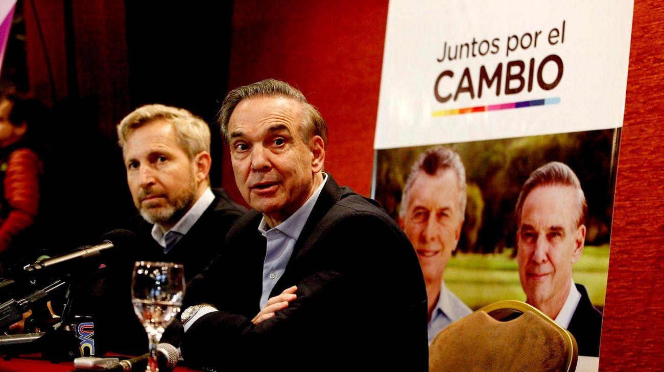 Miguel Ángel Pichetto junto a Rogelio Frigerio en Río Gallegos.