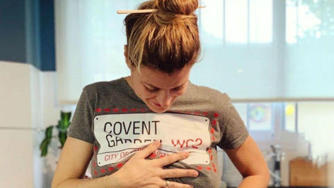Con una tierna postal, Eugenia Tobal reveló el nombre de su beba