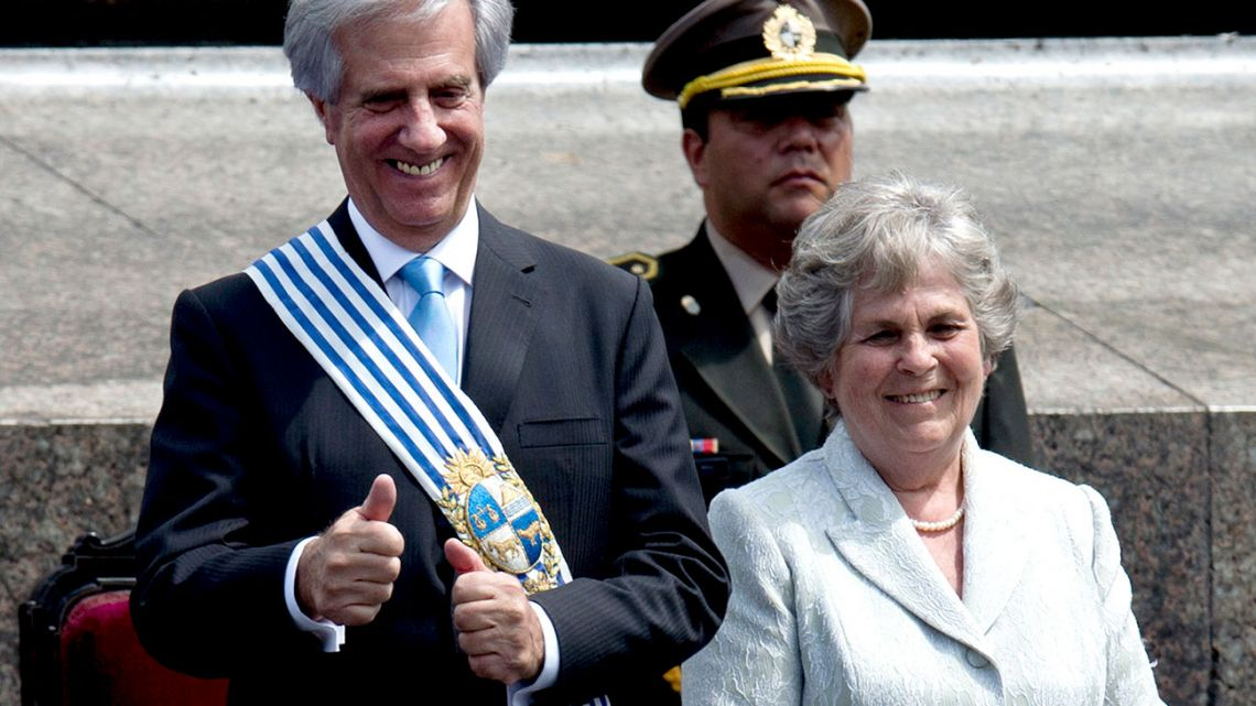 Uruguayan First Lady María Auxiliadora Delgado died Wednesday at the age of 82.