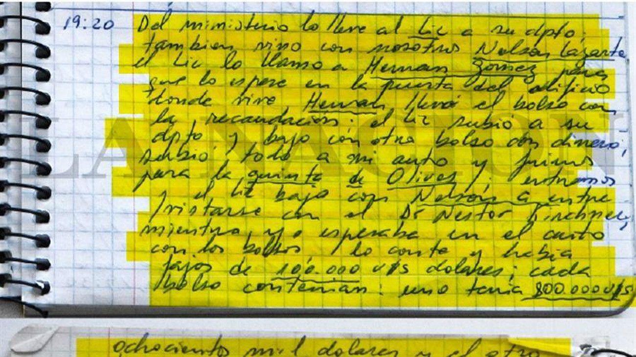 Uno de los ejemplares de los cuadernos del Chofer Centeno.