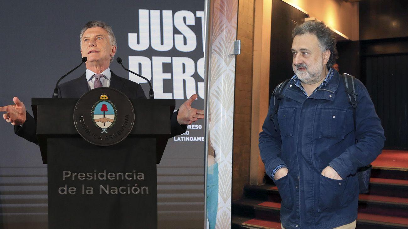 Mauricio Macri y Alejandro Rozitchner.