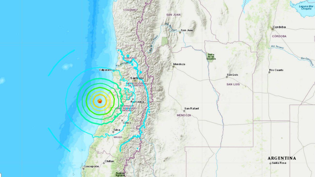 Un fuerte sismo de 6.8 de magnitud impactó en Chile y Argentina