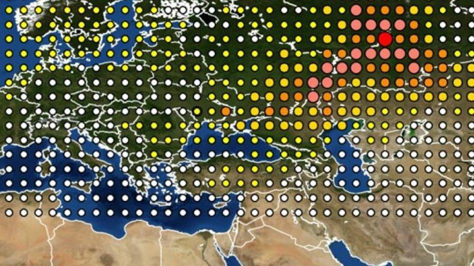 nube radiactiva rusia europa
