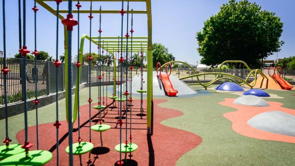 patios de juegos de las plazas de la Ciudad 01082019