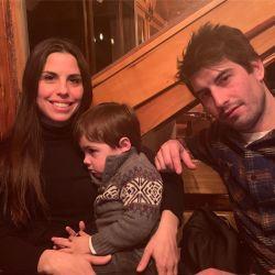 El hijo del Chato Prada y Lourdes Sánchez conoció la nieve por primera vez