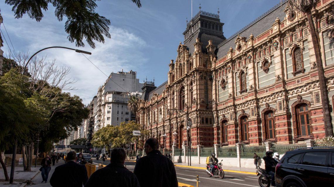 The Palacio de Aguas Corrientes in Buenos Aires.
