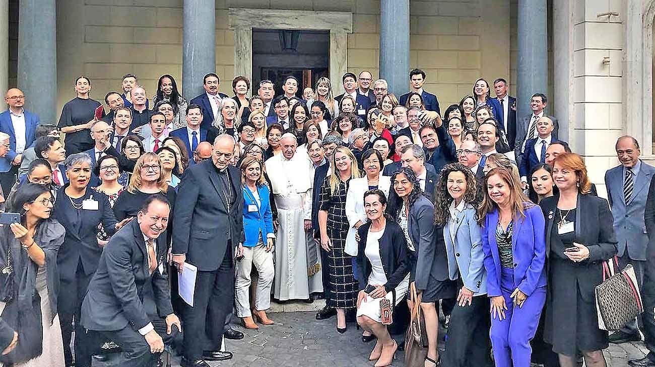 Reunión. Francisco, reunido en Roma con representantes del Poder Judicial del continente, entre ellos Eugenio Zaffaroni.