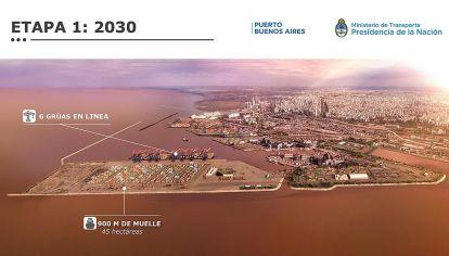 Plan. Según el pliego, el puerto se expandirá en el Río de la Plata.