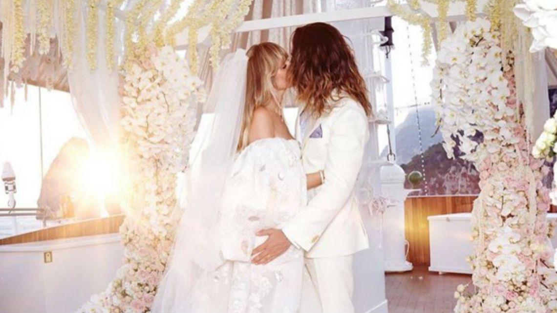 Se filtraron las fotos del casamiento secreto de Heidi Klum con un hombre 16 años menor
