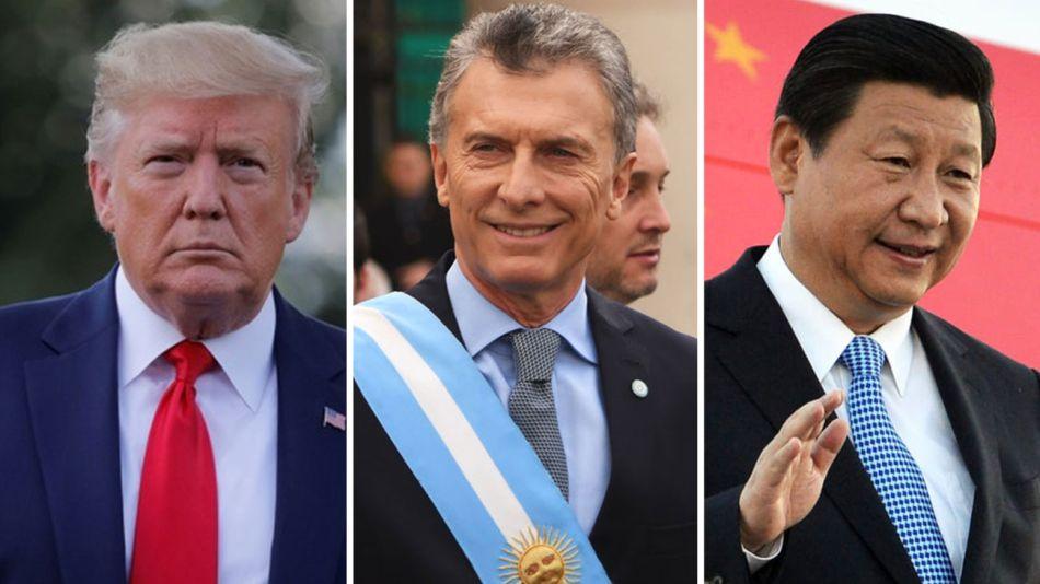 Donald Trump, Mauricio Macri y Xi Jinping 20190805