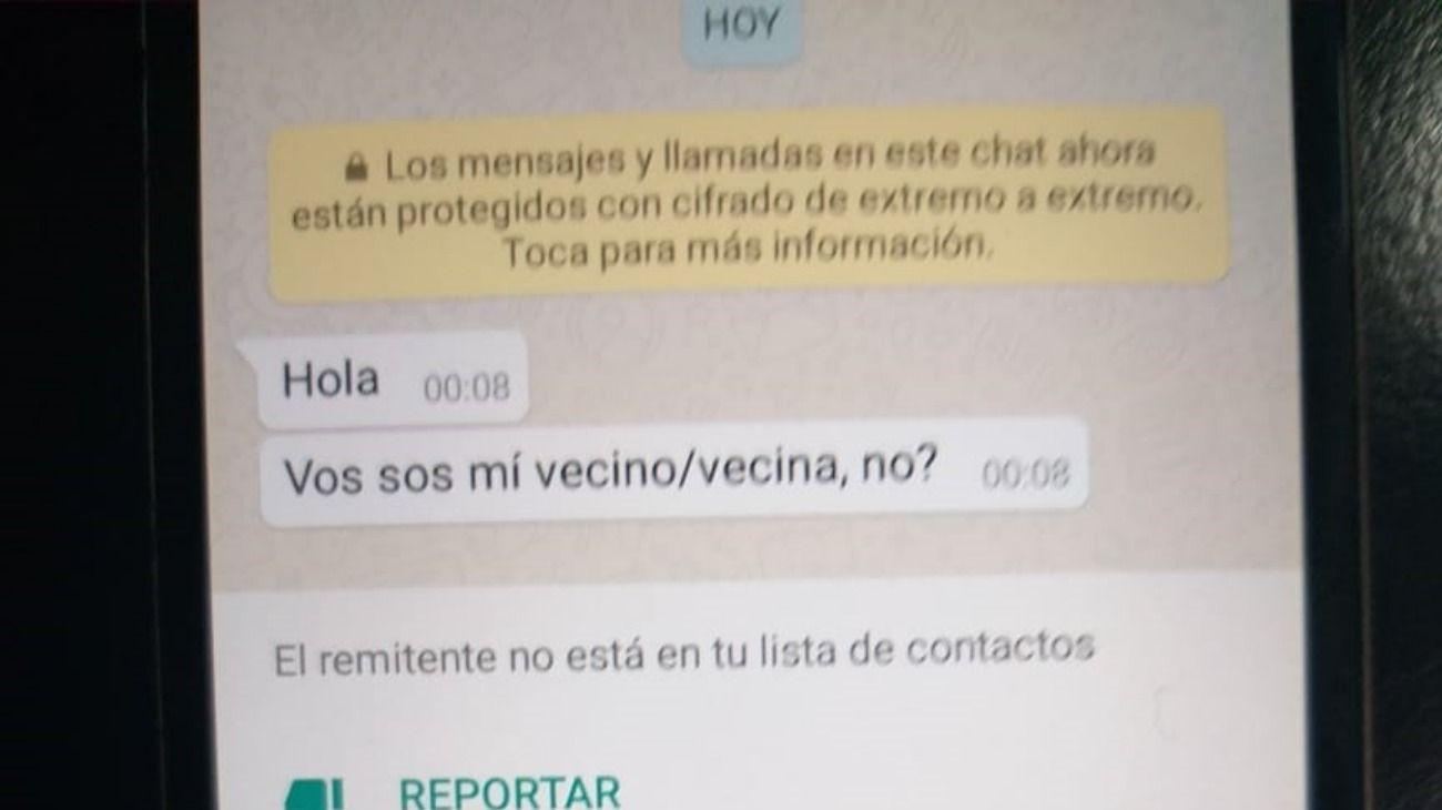 """""""El vecino de número"""": el viral de Whatsapp que pone en riesgo la privacidad"""