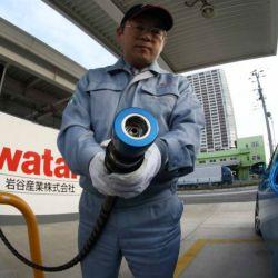 Estación de recarga de hidrógeno en Japón.