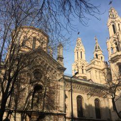 Vista lateral de la iglesia de Santa Felicitas y el Oratorio de Alzaga cuyos exteriores serán remodelados a partir de noviembre de 2019.
