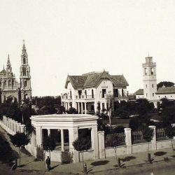 Lo que hoy es la plaza Colombia en el siglo XIX estaba ocupado por la finca de los Alzaga.