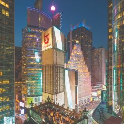Vista panorámica de la ciudad a través de una de las terrazas más lindas de Nueva York.