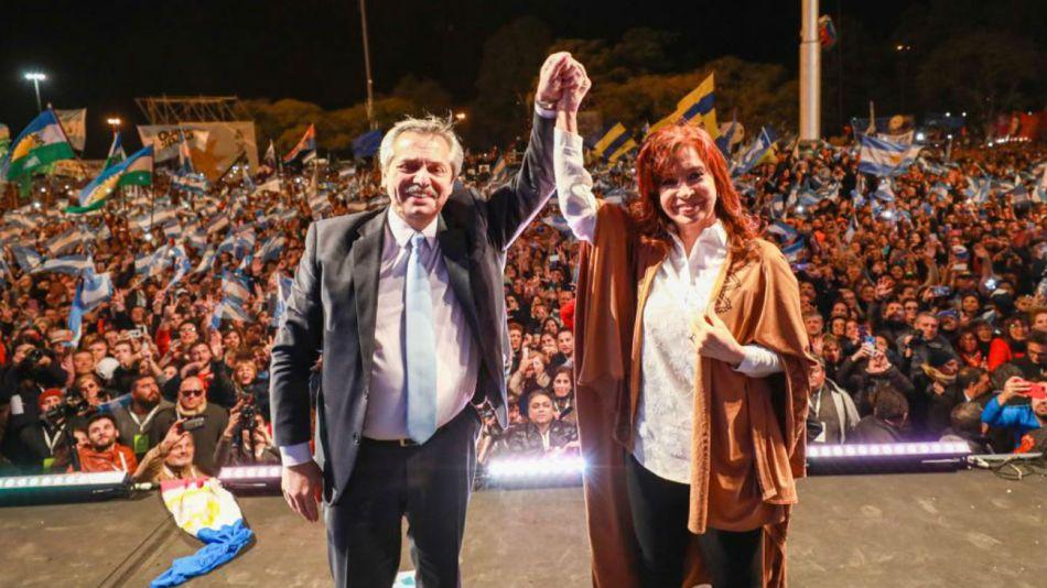 Alberto y Cristina en Rosario