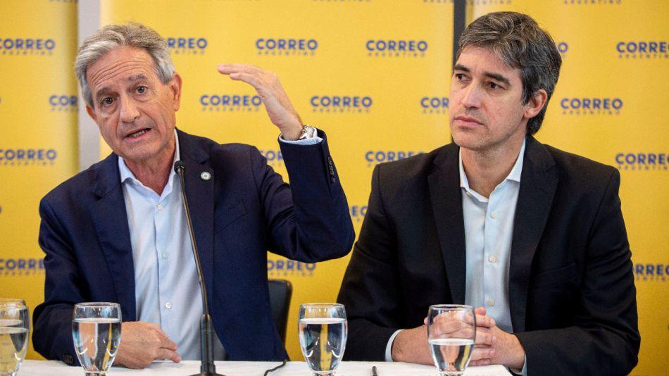 Los secretarios de Modernización, Andrés Ibarra, y de Asuntos Políticos e Institucionales, Adrián Pérez.