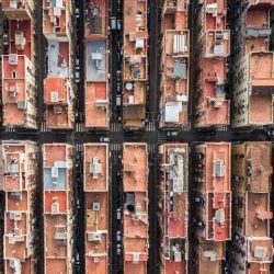 Más del barrio de pescadores de Barcelona y su simetría.