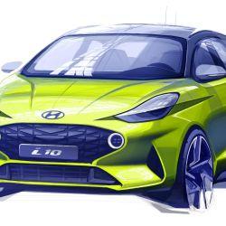 Boceto que adelanta cómo será el nuevo Hyundai i10.