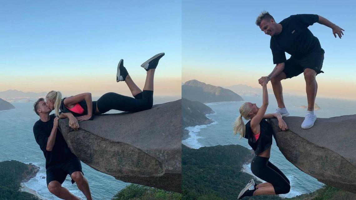 Al borde de la muerte: las riesgosas fotos de Maxi López y su novia